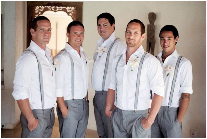 I really like the boys in the grey dress pants, white shirts and suspenders