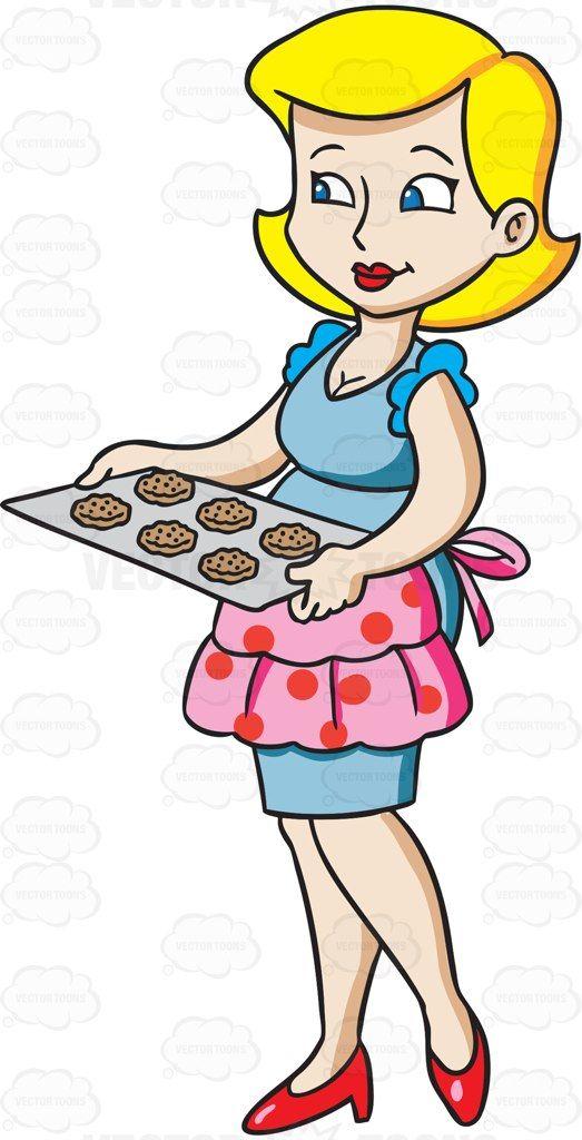 Miraculous A Housewife Serving Cookies Cartoon Clipart Vector Interior Design Ideas Clesiryabchikinfo