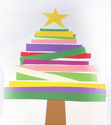 Scrap Paper Christmas Tree Create A Data Chart Afterwards Based On Of Strips Of Colors And Graph It Wit Christmas Tree Art Christmas Art Easy Arts And Crafts