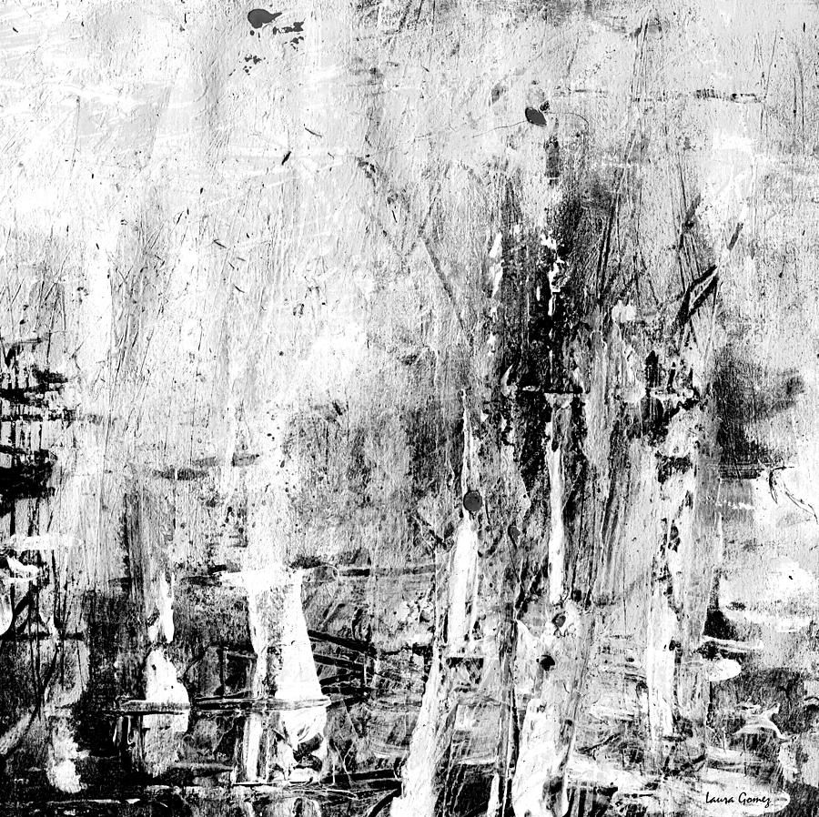 Black And White Abstract Paintings Black And White