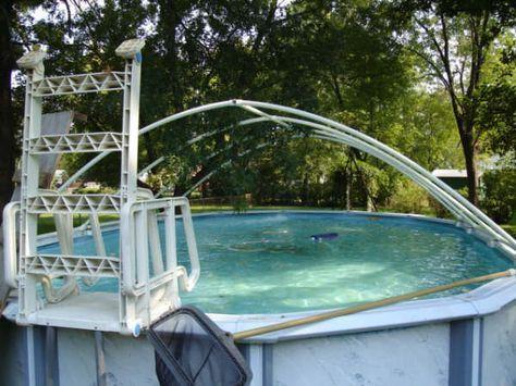Build A Pvc Pool Cover Pool Shade Pvc Pool Pool Cover