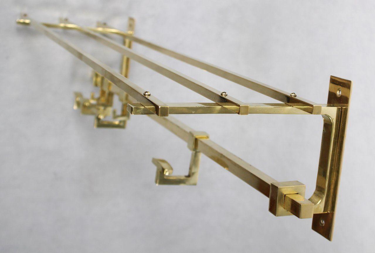 Reproduction Arms./Wardrobes Antique Furniture Wandgarderobe Luxus 10 Kleiderhaken Silber Garderobe Jugendstil Antik Wandhaken