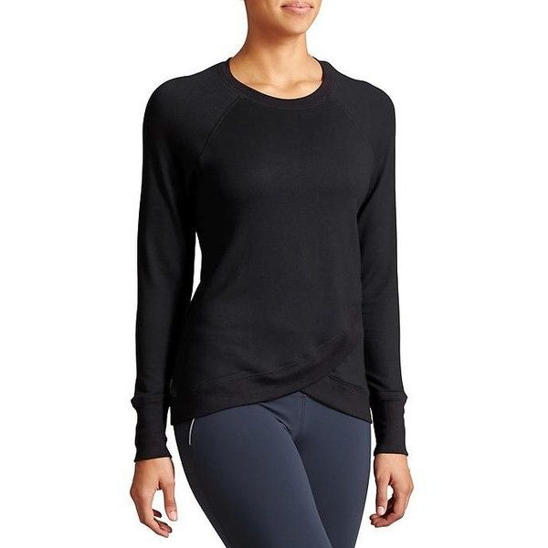 75b42e37a3328 Athleta Women Criss Cross Sweatshirt ( 69) ❤ liked on Polyvore featuring  tops