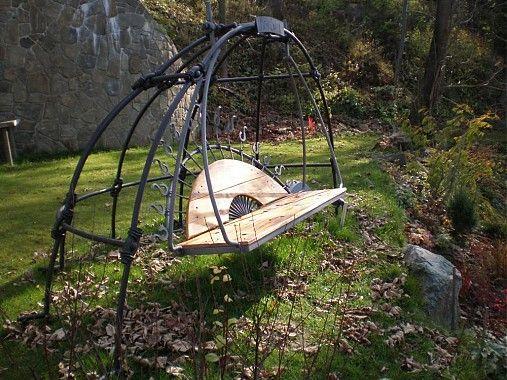 MilanKalmar / kovaná záhradná hojdačka - Moj svet
