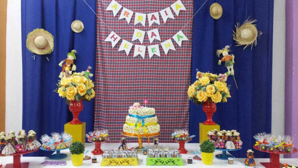 Mesa Decorada Aniversario Junino Com Imagens Festa Tema