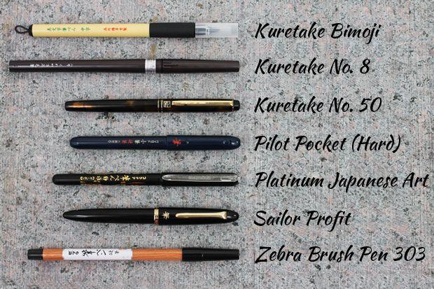 Guide to choosing a brush pen for calligraphy jetpens.com art