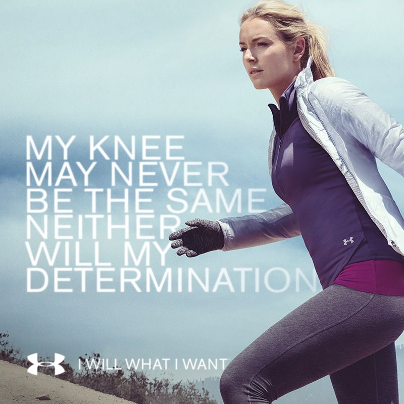 Workout Quotes For Her: Lindsey Vonn Lets Nothing Hold Her Back. Neither Should