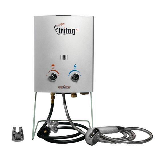Camp Chef Triton 5 Liter Gas Portable Camp Water Heater With Shower Head Hwd5 In 2020 Portable Water Heater Camping Coffee Maker Hot Water System