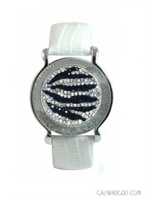 Golf Ball Marker Bracelet White Zebra Gals Who