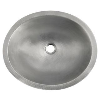 Photo of Native Trails CPS568 Brushed Nickel Classic 17″ Single Basin Undermount Copper Bathroom Sink