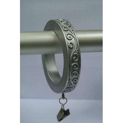 Fleur De Lis Living Harrelson Large Scroll Designer Curtain Ring Colour Pewter In 2020 Curtains With Rings
