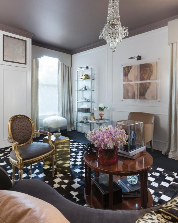 Hgtv Home Design Ideas: This Eclectic Salon Sitting Area As Seen At HGTV Is A True