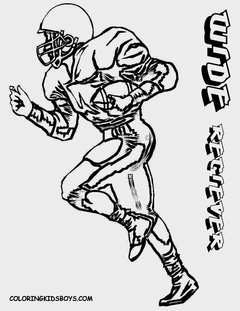 Football Printable Coloring Pages | Coloring Pages | Pinterest