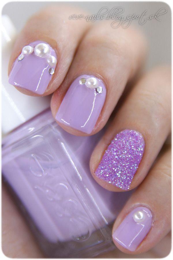 16 Pretty Gem Nail Designs You Won\'t Miss | Pinterest | Nice, Pearls ...