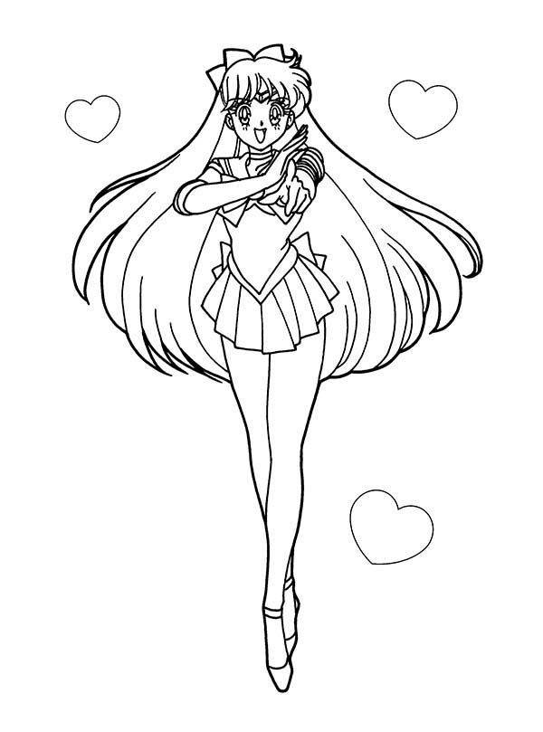 Sailor Moon Anime Soldier of Love and Justice Coloring Page ...