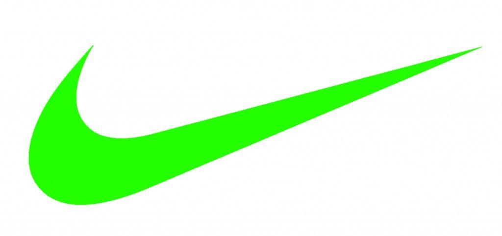 1971 nike s swoosh design logo was created by portland state rh pinterest com White Nike Logo lime green nike logo
