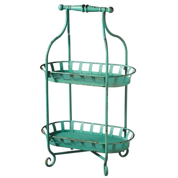 Midwest CBK Distressed Blue Two Tier Stand by Midwest CBK | Decor ...
