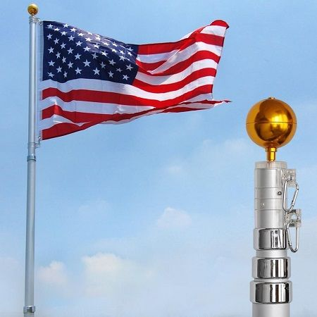 16ft Telescoping Flagpole W 3 5 Us Flag Save 52 Coupon Codes Promo Codes Daily Deals Save Money Today 1sale Flag Pole Kits Telescoping Flagpole Flag Pole