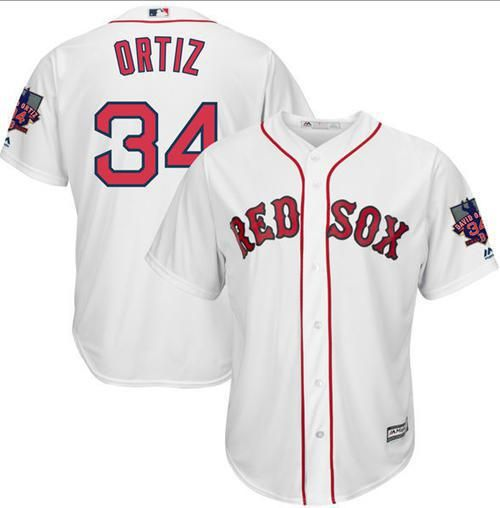 red sox 34 david ortiz white new cool base with retirement patch stitched mlb jersey