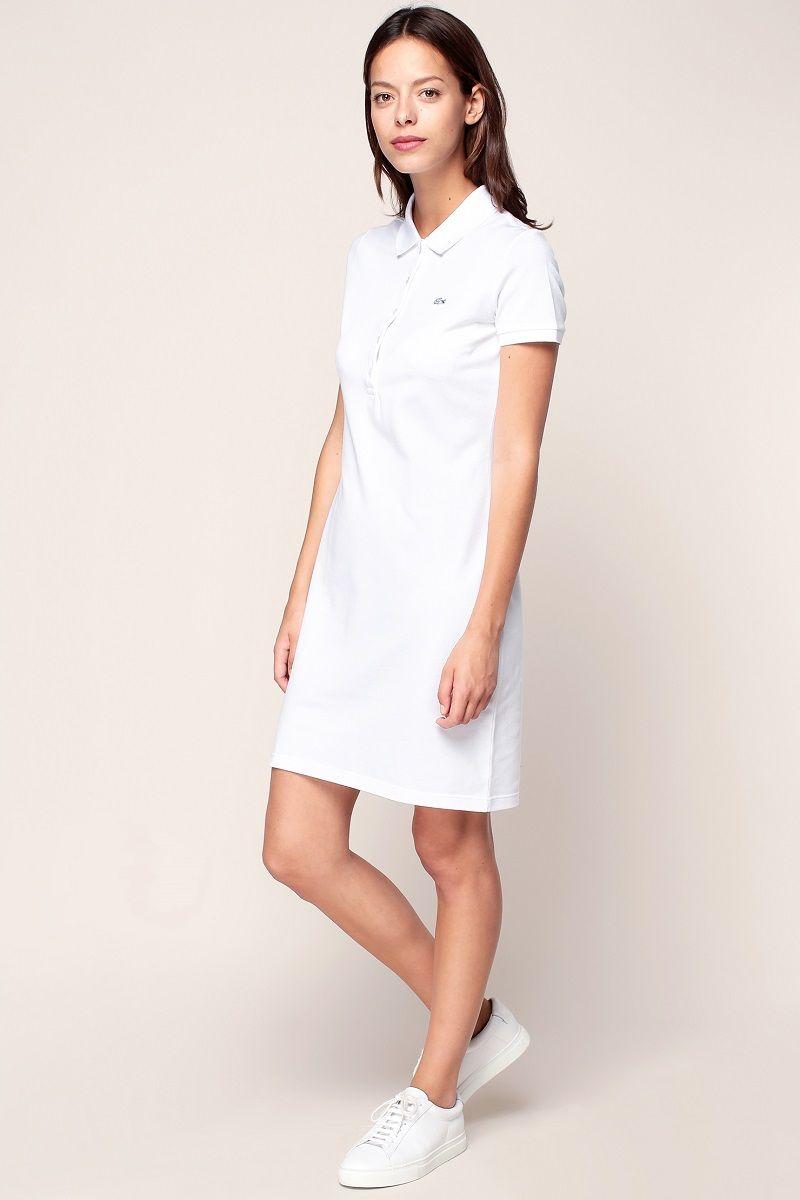 5b4cdaafc2 Lacoste Robe polo blanche avec logo brodé en 2019 | Mode Femme ...