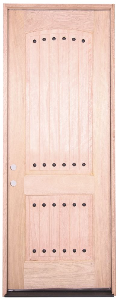 30x 80 Clavos 2 Panel Exterior Mahogany Door Surplus Building