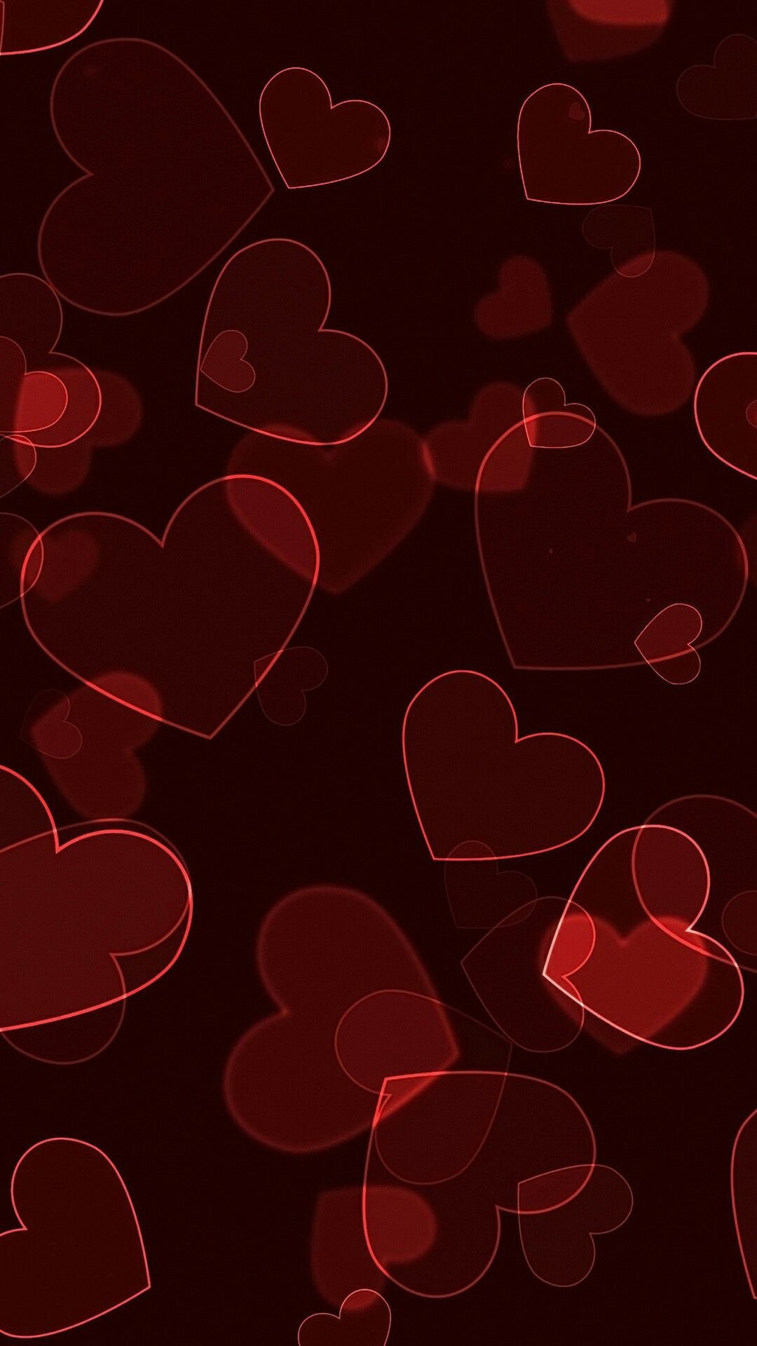 Red Hearts Valentine S Day Heart Wallpaper Valentines Wallpaper Love Wallpaper