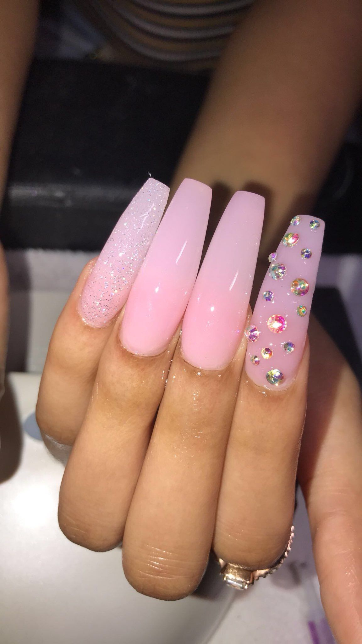 Pin by mel henfield on Nails | Long acrylic nails, Cute ...