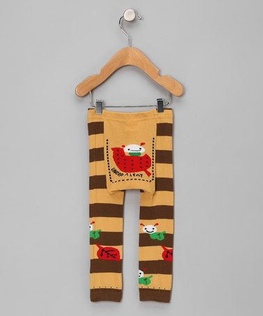 Take a look at this Yellow & Brown Under A Leaf Leggings - Infant by Legwarmers Warehouse on #zulily today!