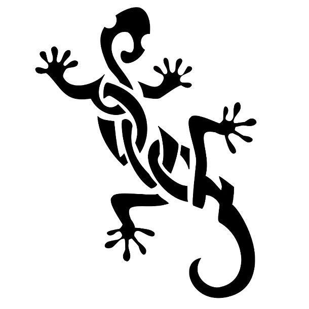 Nice Tribal Gecko Tattoo Design Gecko Tattoo Tattoo Designs Lizard Tattoo