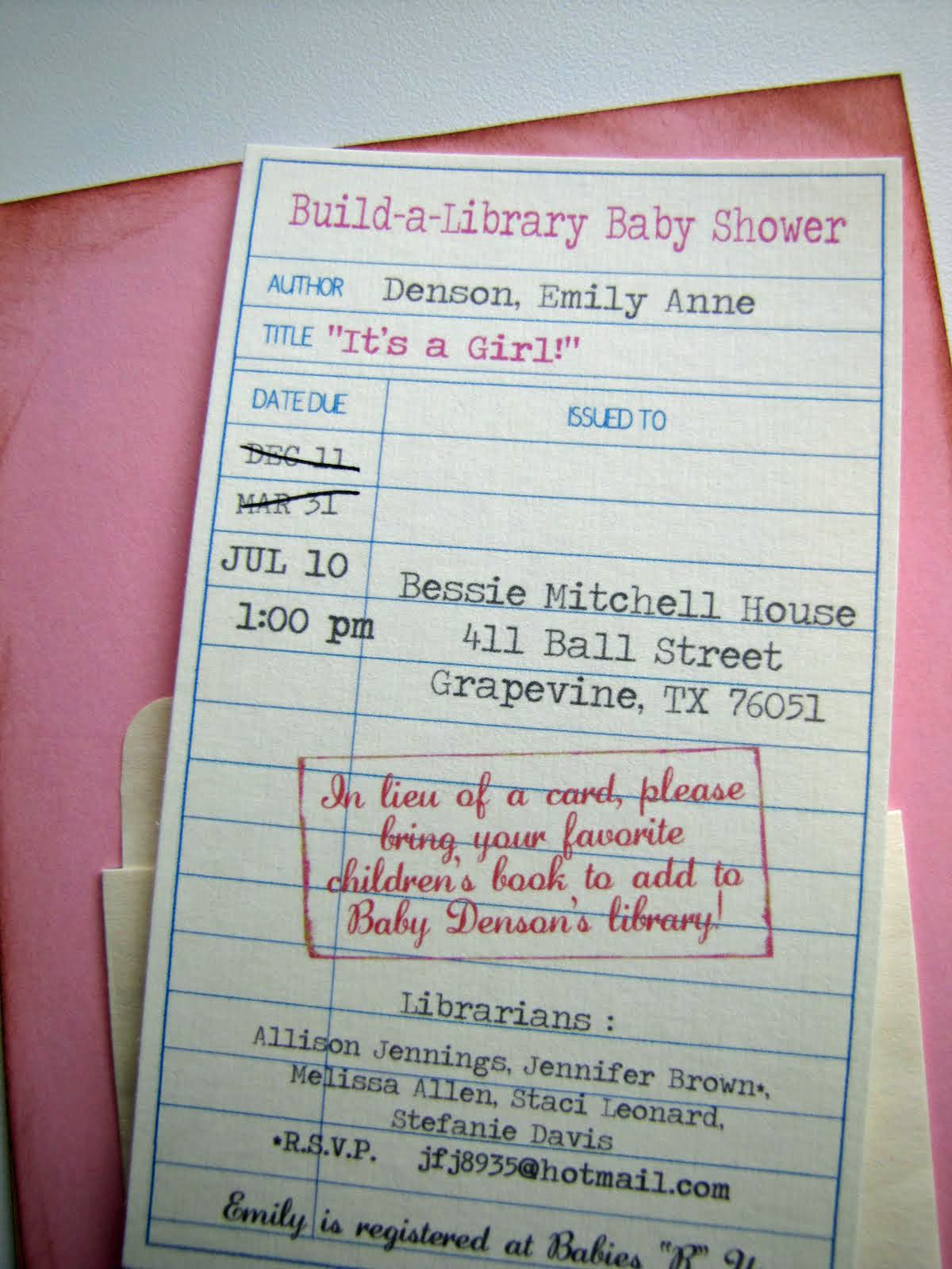 Jen of Lil Mop Top created this library card invite for her ...