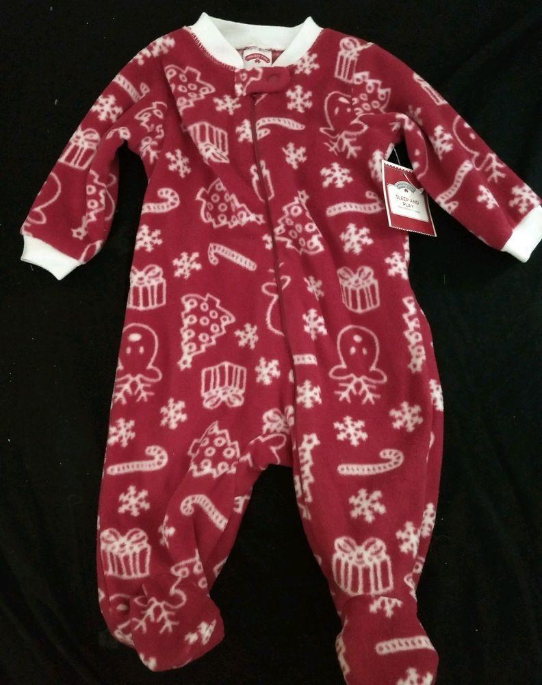 e90083e4e Christmas Pajamas Unisex Children Size 0-3 Months Polyester Holiday ...