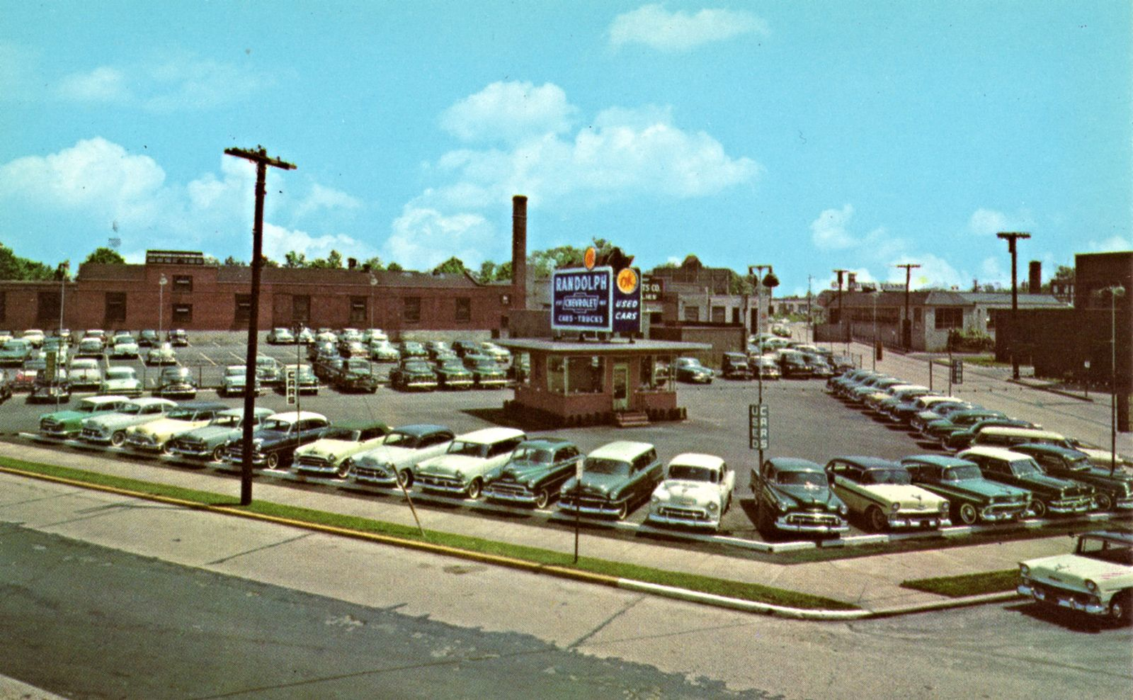 Amazing 1950u0027s Randolph Chevrolet Dealership, Camden, New Jersey