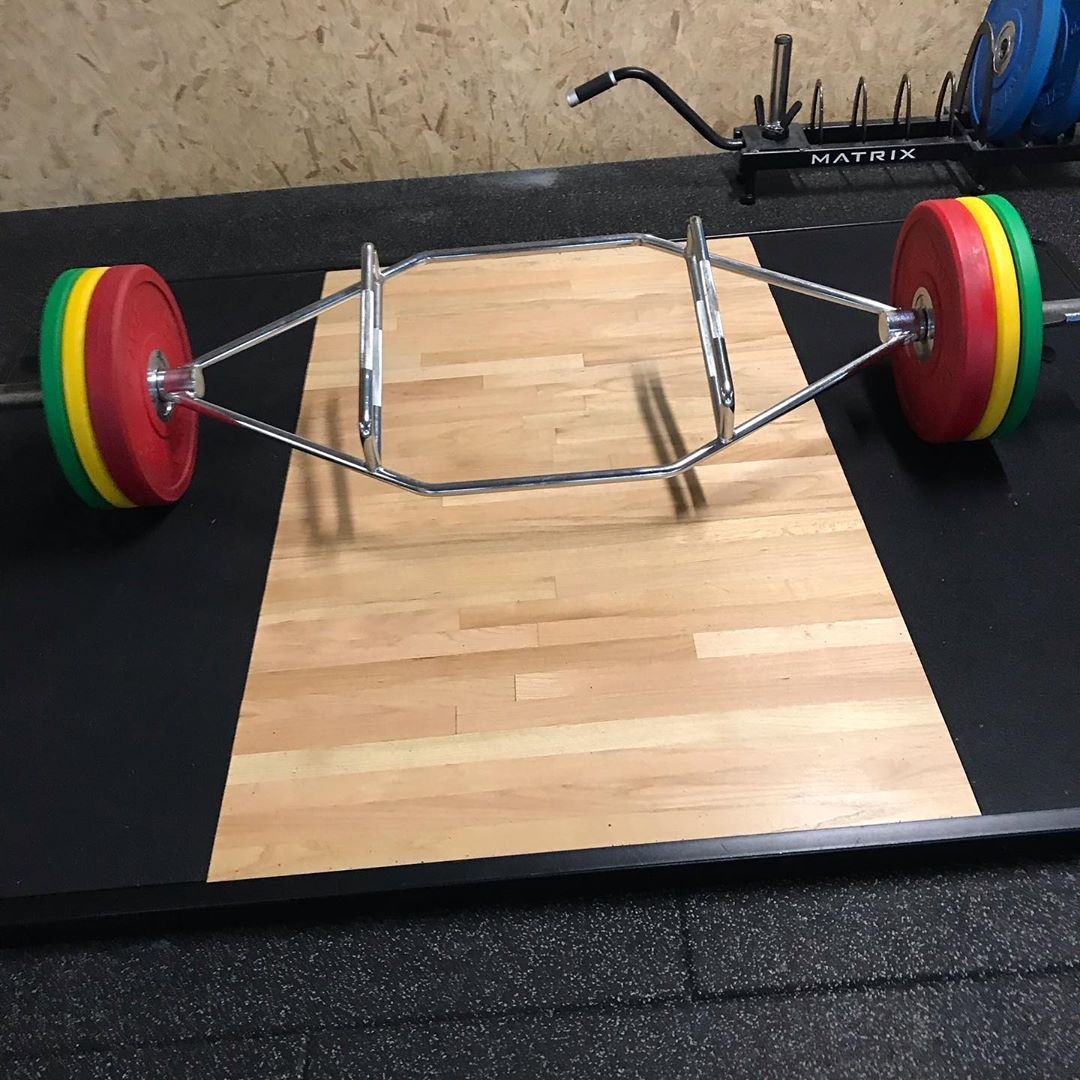 Tried trap bar deadlift for the first time today 120kg I think not sure how much the bar weighs it d...