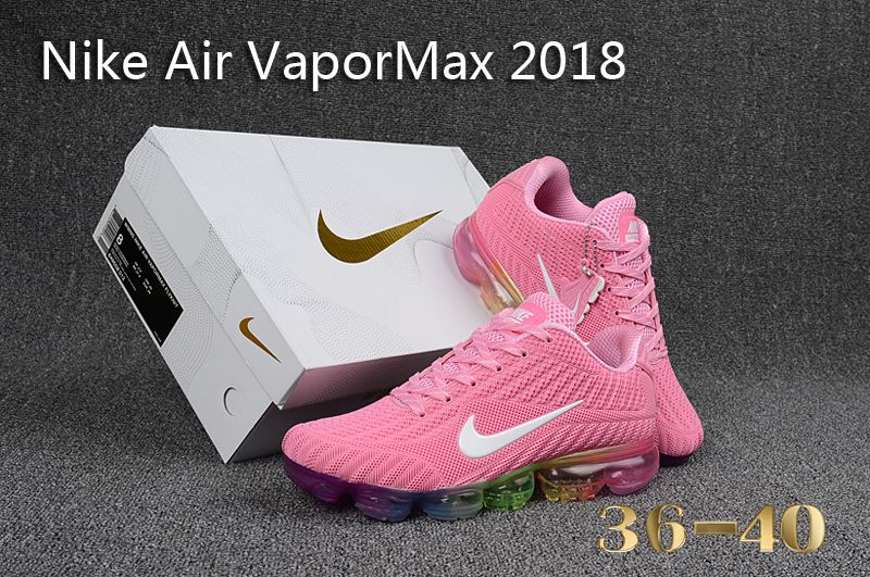 on sale 2c77c b5bc4 Beautiful Nike Air Vapor Max 2018 KPU Pink White Multi-Color Womens  Running Shoes