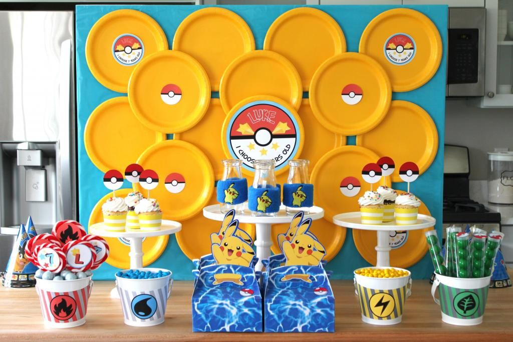 Craft That Party Pokemon Party I Choose 7 Years Old Cumpleanos De Pokemon Decoracion Pokemon Decoracion Cumpleanos Pokemon