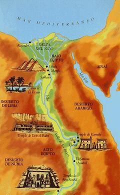 Mapa del Antiguo Egipto. Río Nilo | Egipto, Egipto antiguo ...