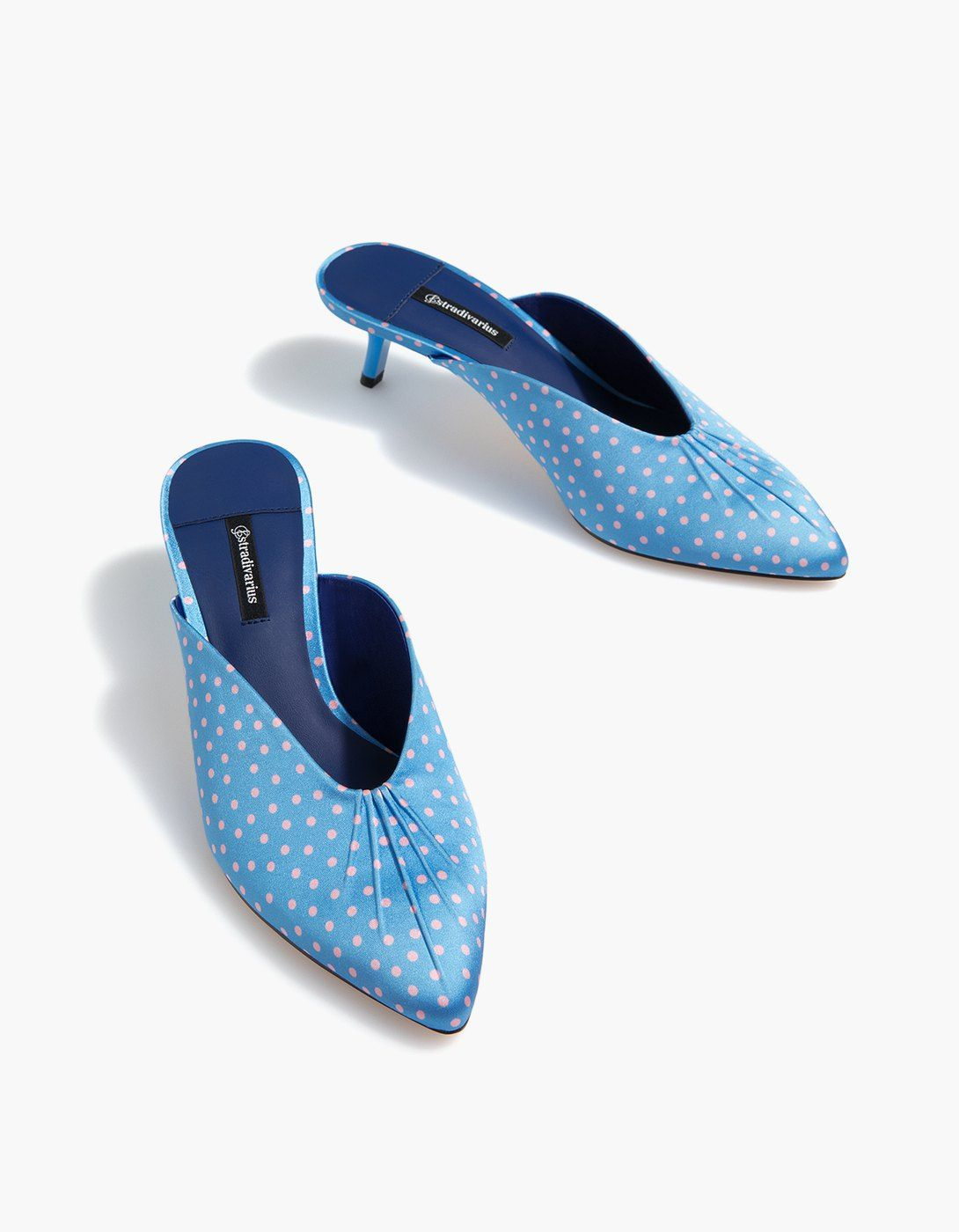 At Stradivarius You Ll Find 1 Polka Dot Low Heel Mules For Just