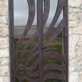 puerta entrada diseo hierro