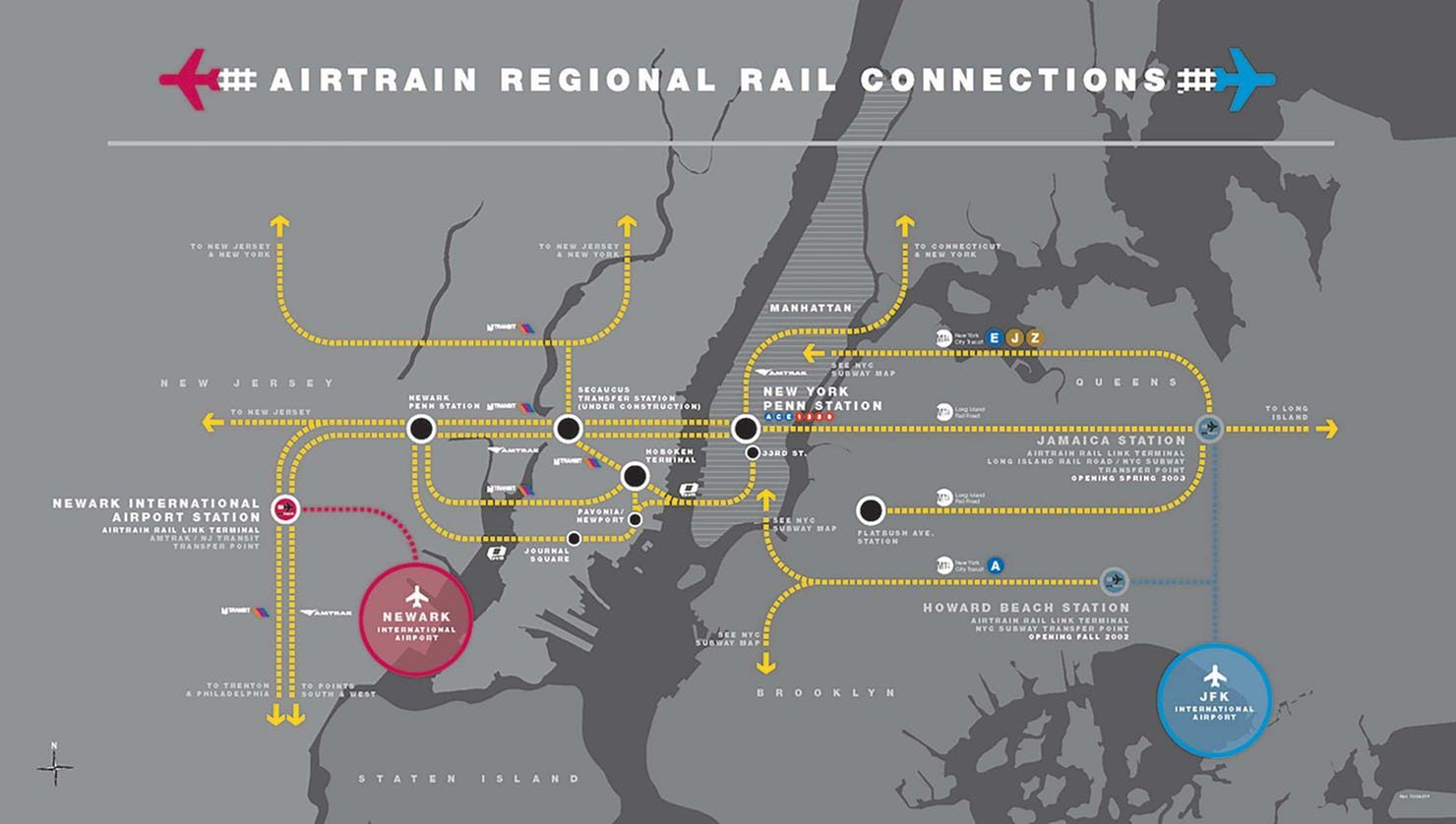 Nyc Subway Map Airtrain.Airtrain New York City S First Rail Link To John F Kennedy
