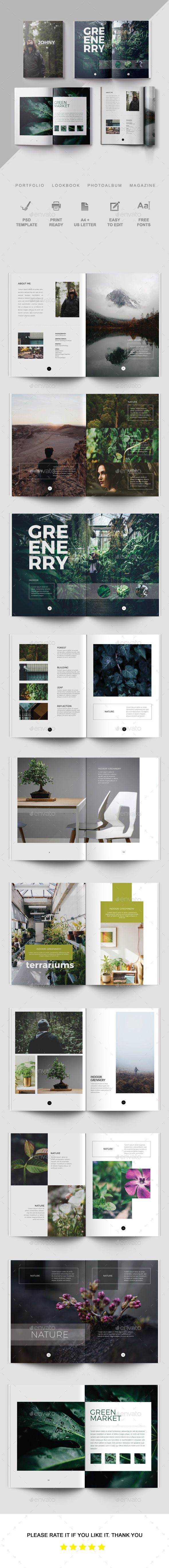 Portfolio  Brochure Template Brochures And Layout Design
