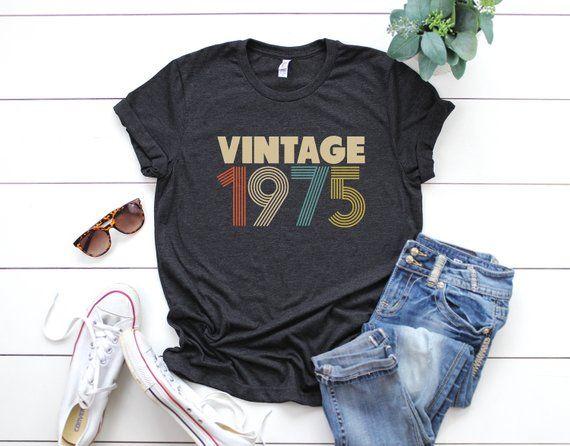 44th Birthday For Women Vintage 1975 Shirt Gift