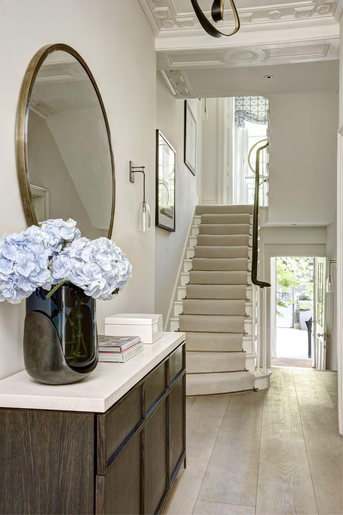 Entry hallway furniture  Simple and elegant entry way  Decoratıon  Pinterest  Town house