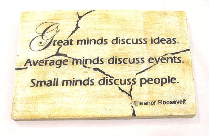 Great Minds Plaque