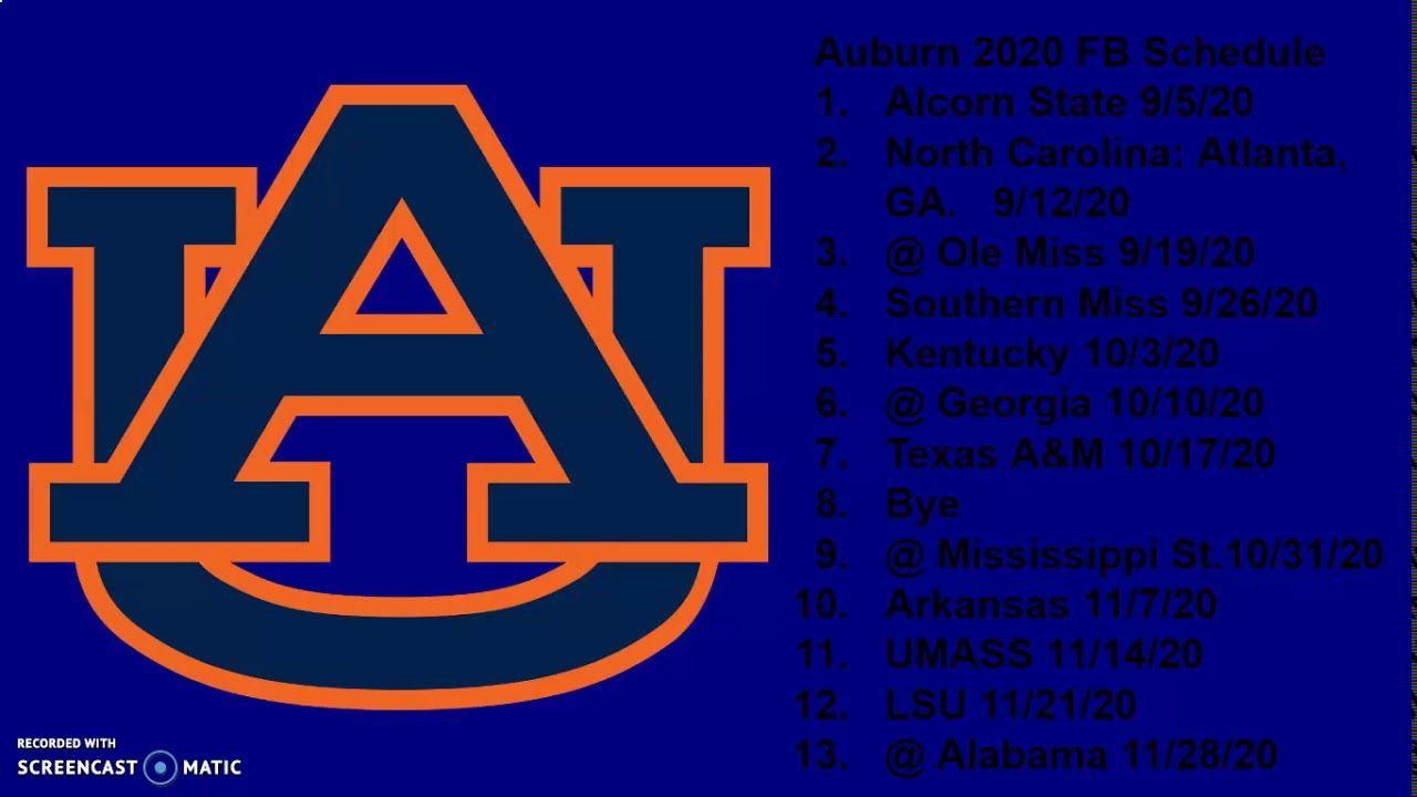 Auburn Football 2020 In 2020 Auburn Football Football Auburn