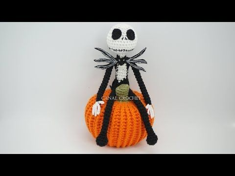 Jack Skellington Crochet Tutorial #amigurumitutorial