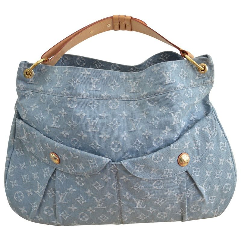 14f536ea49b8 blue Plain Denim - Jeans LOUIS VUITTON Handbag - Vestiaire Collective