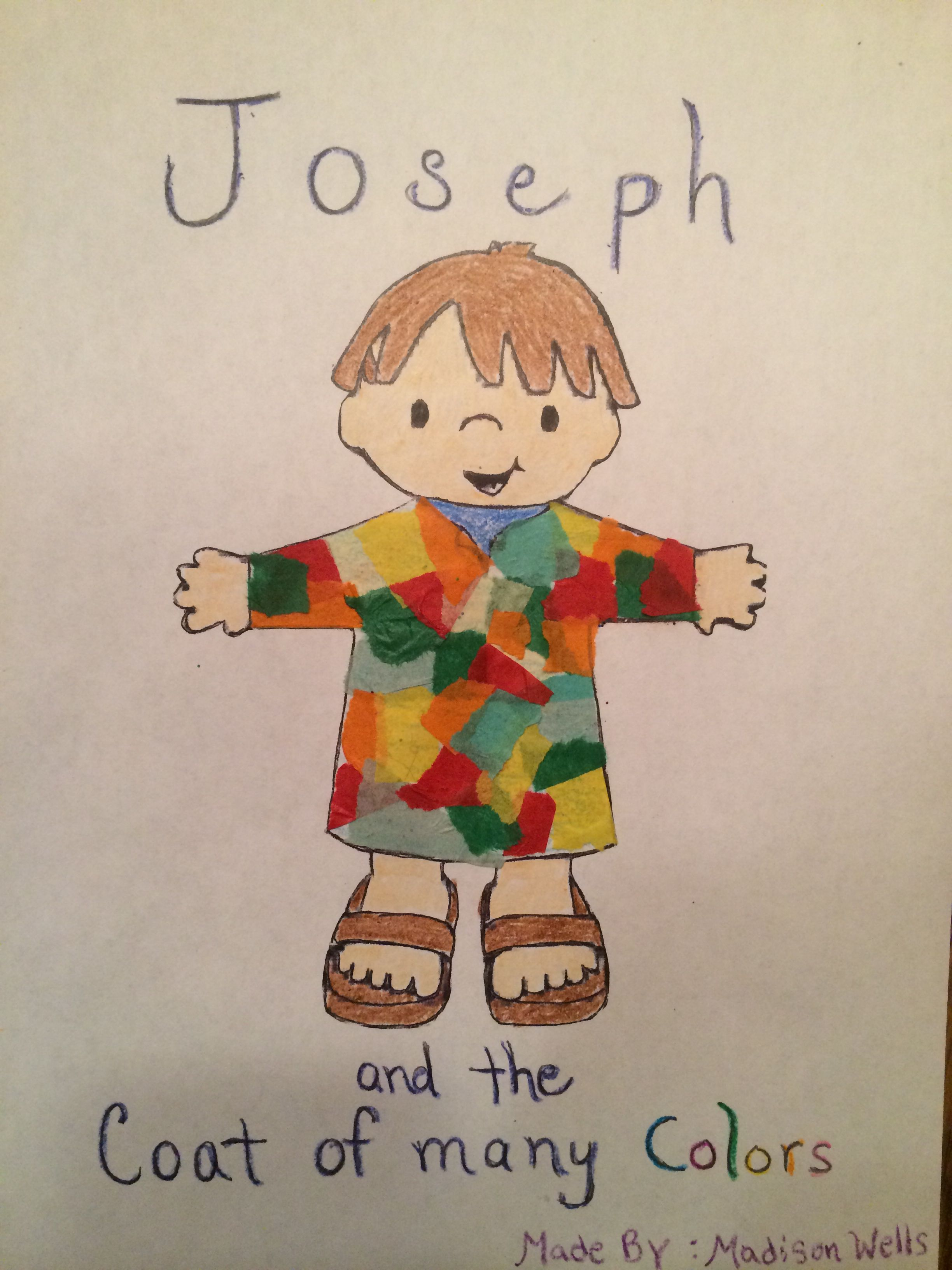 Joseph And The Coat Of Many Colors Children S Church Craft