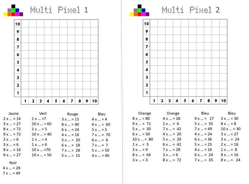 Multi Pixels Permet De Manipuler Les Tables De Multiplication Mais Aussi De Reperer Des C Quadrillage Ce1 Exercices Tables De Multiplication Jeu Multiplication
