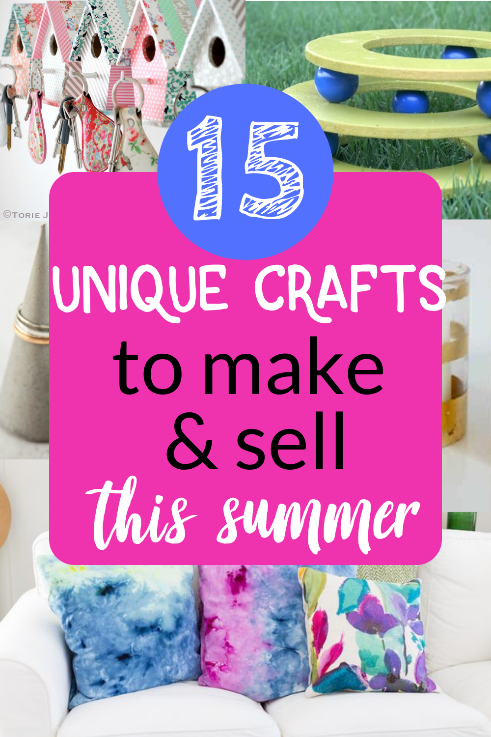15 Unique Crafts To Make And Sell This Summer Uniquecrafts With Images Crafts To Make Diy Crafts To Sell