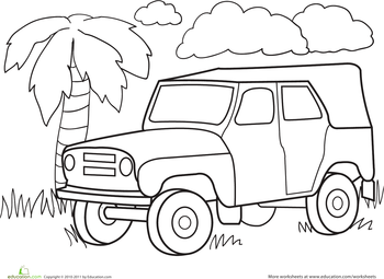 color a car jungle jeep classroom cars coloring pages truck coloring pages race car. Black Bedroom Furniture Sets. Home Design Ideas